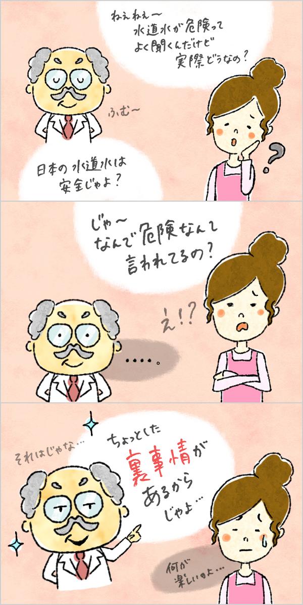 「水チェキ」様 3コマ漫画 イラスト制作